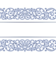stylish vintage lace border in vector image vector image