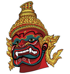 thai demon red vector image