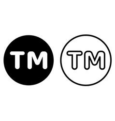 tm mark icon vector image