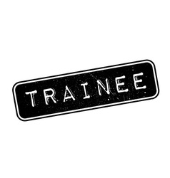 Trainee rubber stamp vector