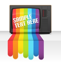 Tv rainbow vector