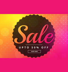 vibrant sale banner poster design template vector image