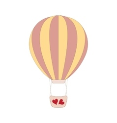 wedding pink balloon on white vector image