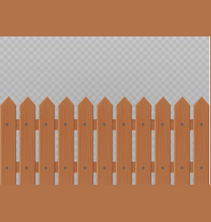 wooden fence isolated on white vector image