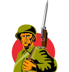 World War Two American Soldier vector image