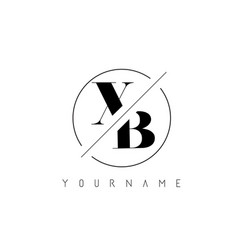 xb letter logo with cutted and intersected design vector image