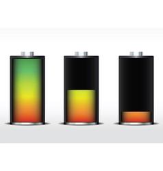 battery gradient vector image vector image