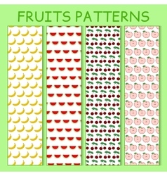 Colorful seamless pattern of bananas watermelons vector image vector image