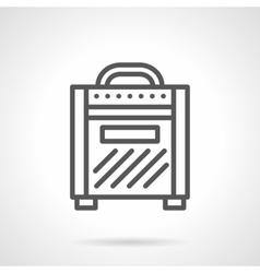 Combo amp simple line icon vector image