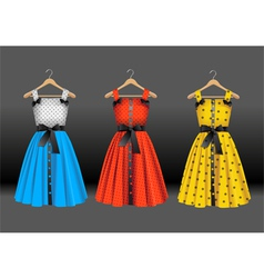 Fashion dresses vector image vector image