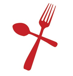 knife spoon icon vector image