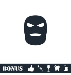 Mask icon flat vector image