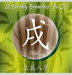 Set of chinese feng shui hieroglyphs vector