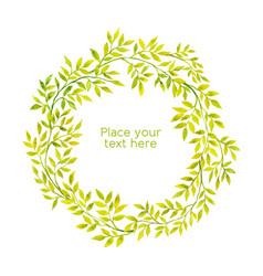 watercolor floral framexa vector image vector image