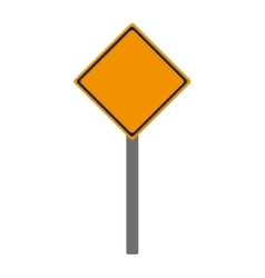 blank yellow street sign icon vector image