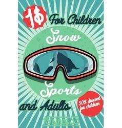 Color vintage Ski sport poster vector image