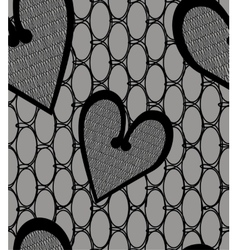 Heart lace seamless pattern vector image
