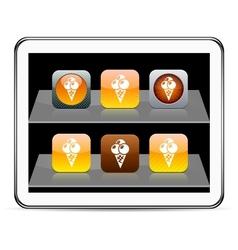 icecream orange app icons vector image