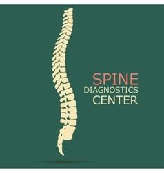 Spine diagnostics center vector image vector image