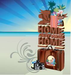 summer postcard vector image vector image