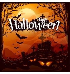 Cartoon halloween background vector image