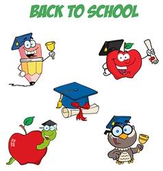 Graduation Cartoon Character-Collection vector image