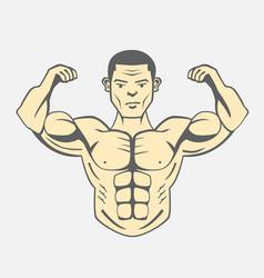 men bodybuilding fitness lifestyle vector image vector image