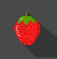 strawberry cartonn flat icon dark background vector image vector image