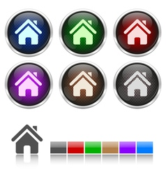Colorful honeycomb home icon vector image