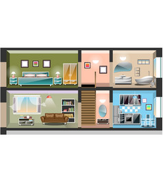 detailed modern house interior vector image vector image