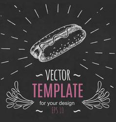 fast food menu design template hand drawn vector image vector image