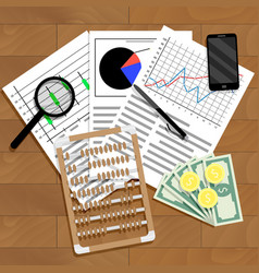 financial analysis of statistics vector image