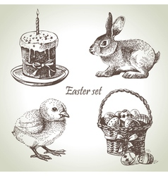 Hand drawn Easter set vector image vector image