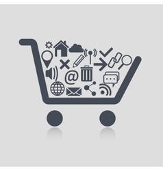 Shopping cart web vector image vector image