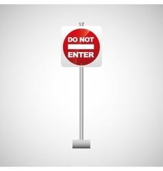 Sing red do not enter icon design vector