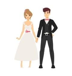 Wedding couple people vector image vector image