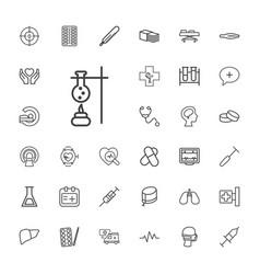 33 medicine icons vector