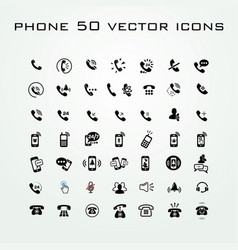 50 universal outline icons for web and mobile vector image