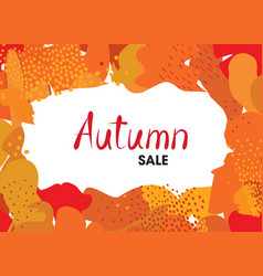 Abstract autumn background design reative fall vector