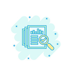 audit document icon in comic style result report vector image