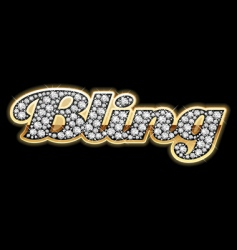 Bling style vector