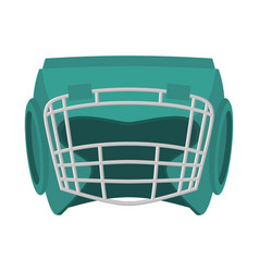 boxing helmet green boxer mask isolated spor vector image