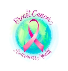 Breast cancer ribbon and world awareness women vector