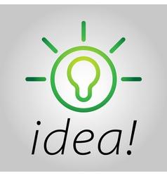 bright ideas vector image