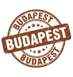 Budapest brown grunge round vintage rubber stamp vector