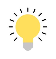 Bulb idea on vector