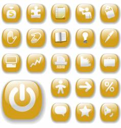 business internet website buttons vector image