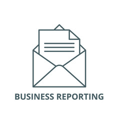 business reporting line icon business vector image