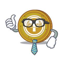 Businessman tether coin character cartoon vector