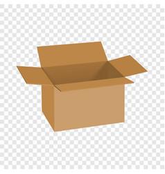 Carton box mockup realistic style vector